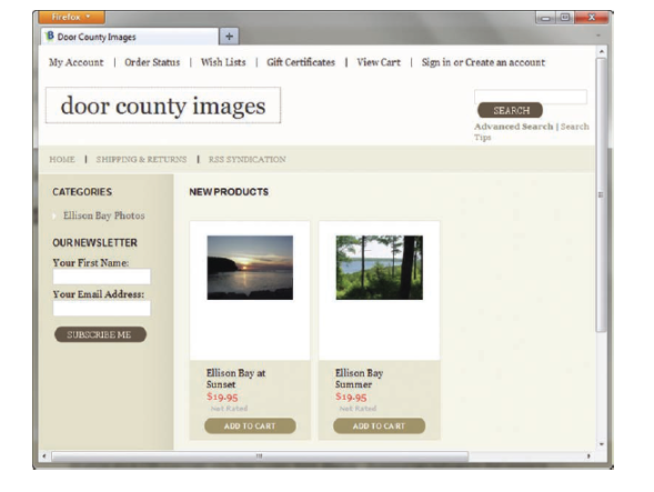 B Door County Images My AccountOrder Stams Wish Lists 1 Gift Certificates ViewCart Sign in or