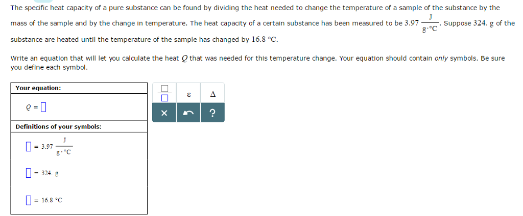 Solved The Specific Heat Capacity Of A Pure Substance Can
