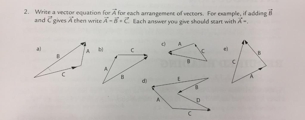 solved write a vector equation for a for each arrangement rh chegg com vectors for malaria vectors for logos