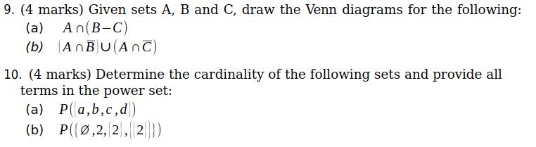 Power Set Venn Diagram Block And Schematic Diagrams