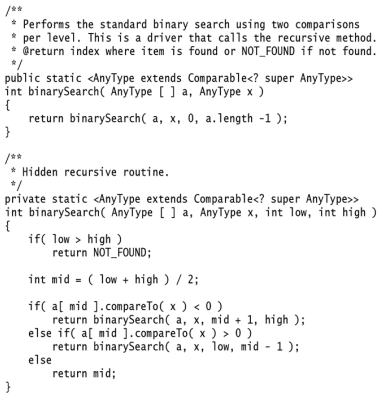 write an algorithm for binary search with example