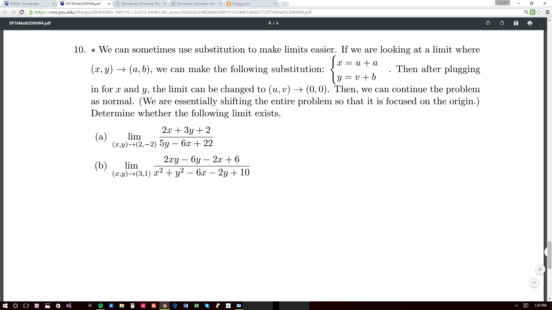 Solved: We Can Sometimes Use Substitution To Make Limits E
