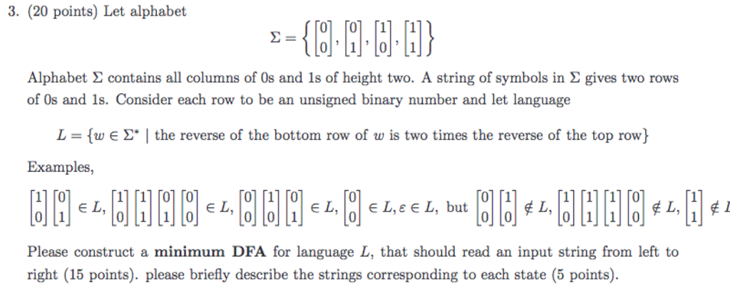 Solved Let Alphabet Sigma 0 0 0 1 1 1 Alphab
