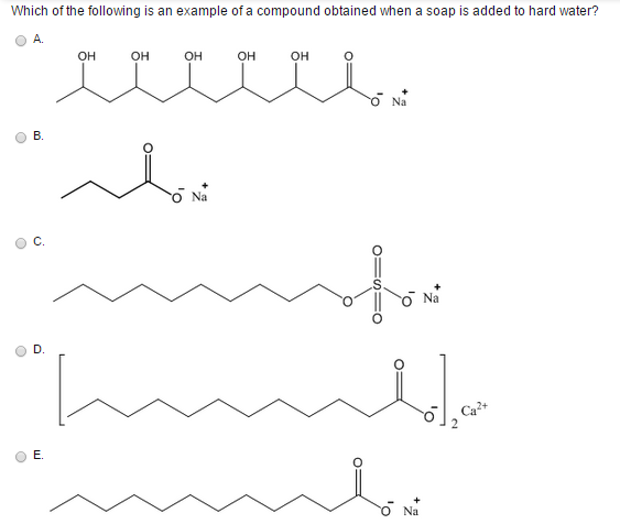 Solved Which Of The Following Is An Example Of A Compound