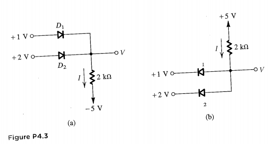 solved for the circuit shown in fig p4 3 using ideal diod rh chegg com