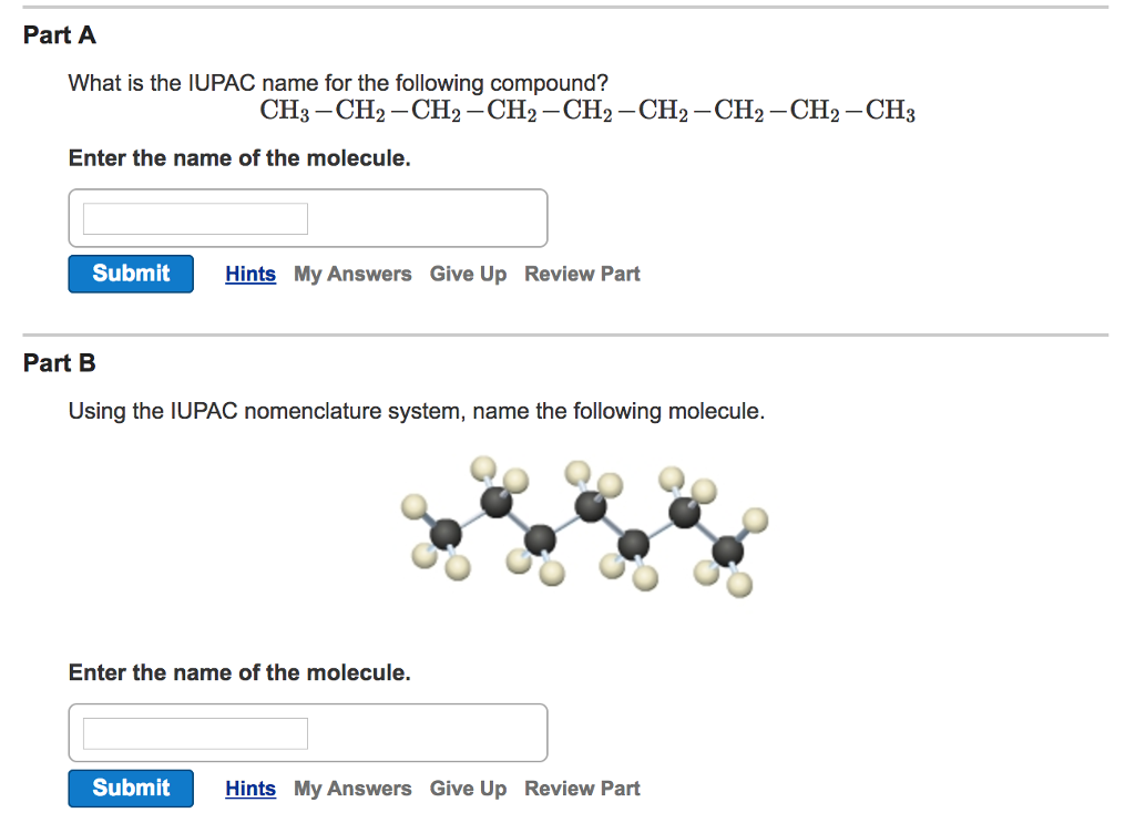Solved What Is The Iupac Name For The Following Compound