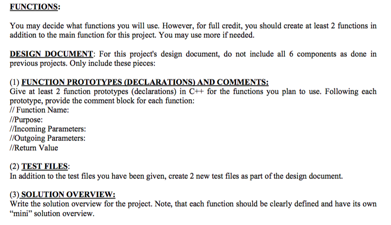 Solved THE PROBLEM For This Project You Will Be Designi - How to write a design document