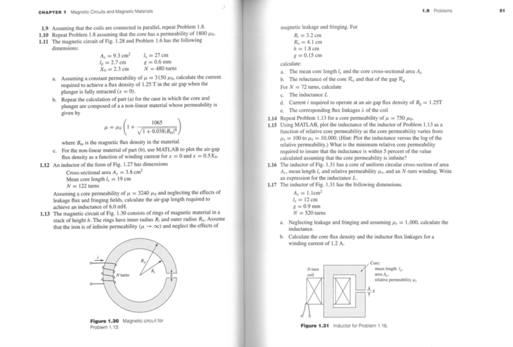 Solved: CHAPTER 1 Magnetic Circuits And Magnetic Materials ...