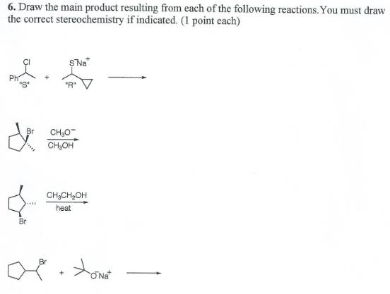 Determining e1 or e2 reactions stereochemistry