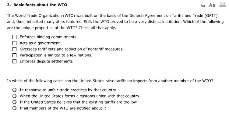 Solved The World Trade Organization Wto Was Built On Th