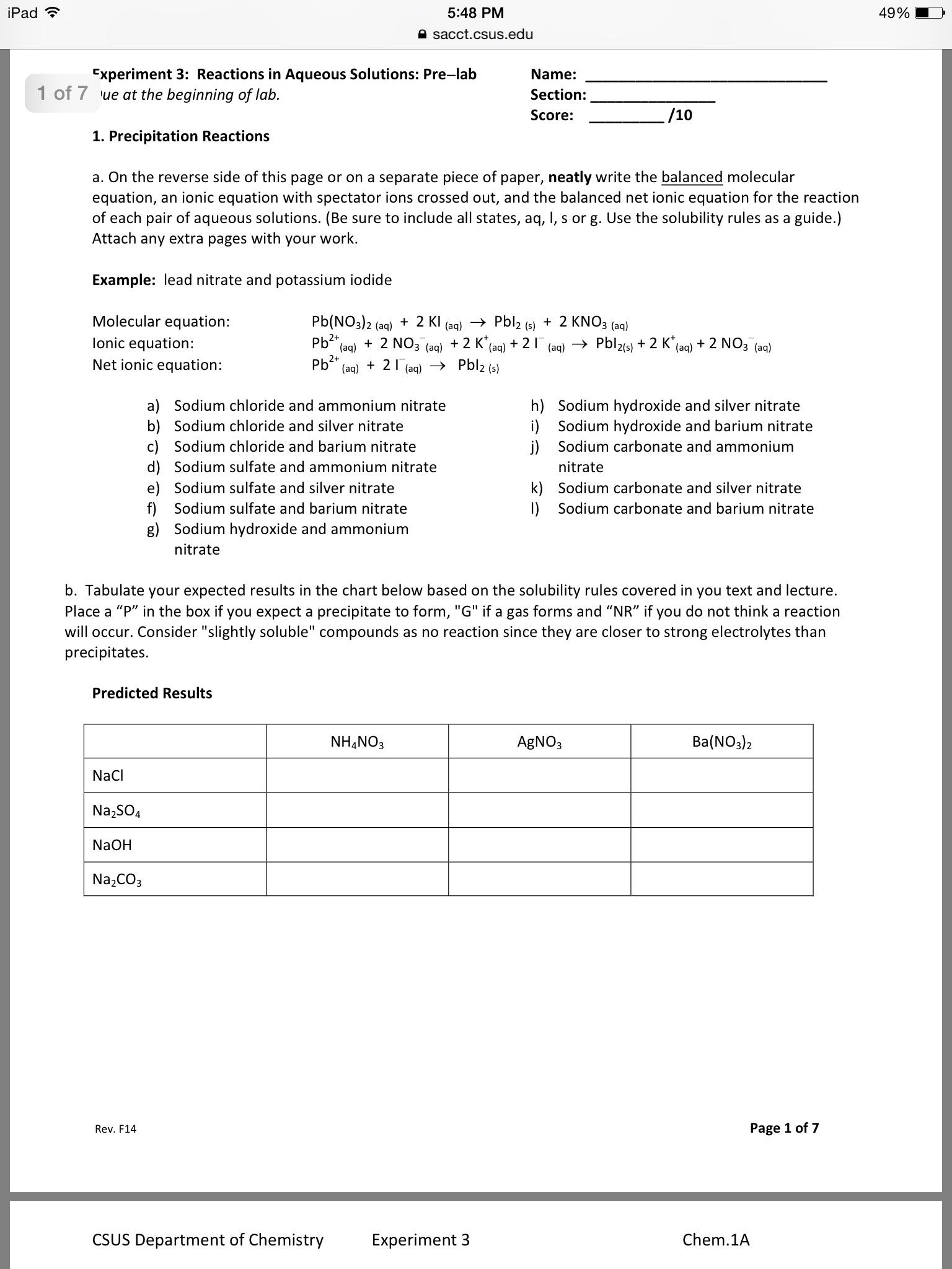 ammonium nitrate lab