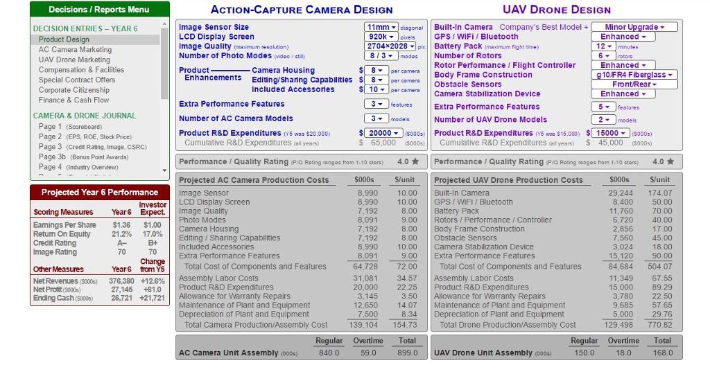 Solved Uav Drone Design Decisions Reports Menu Action Cap Chegg Com