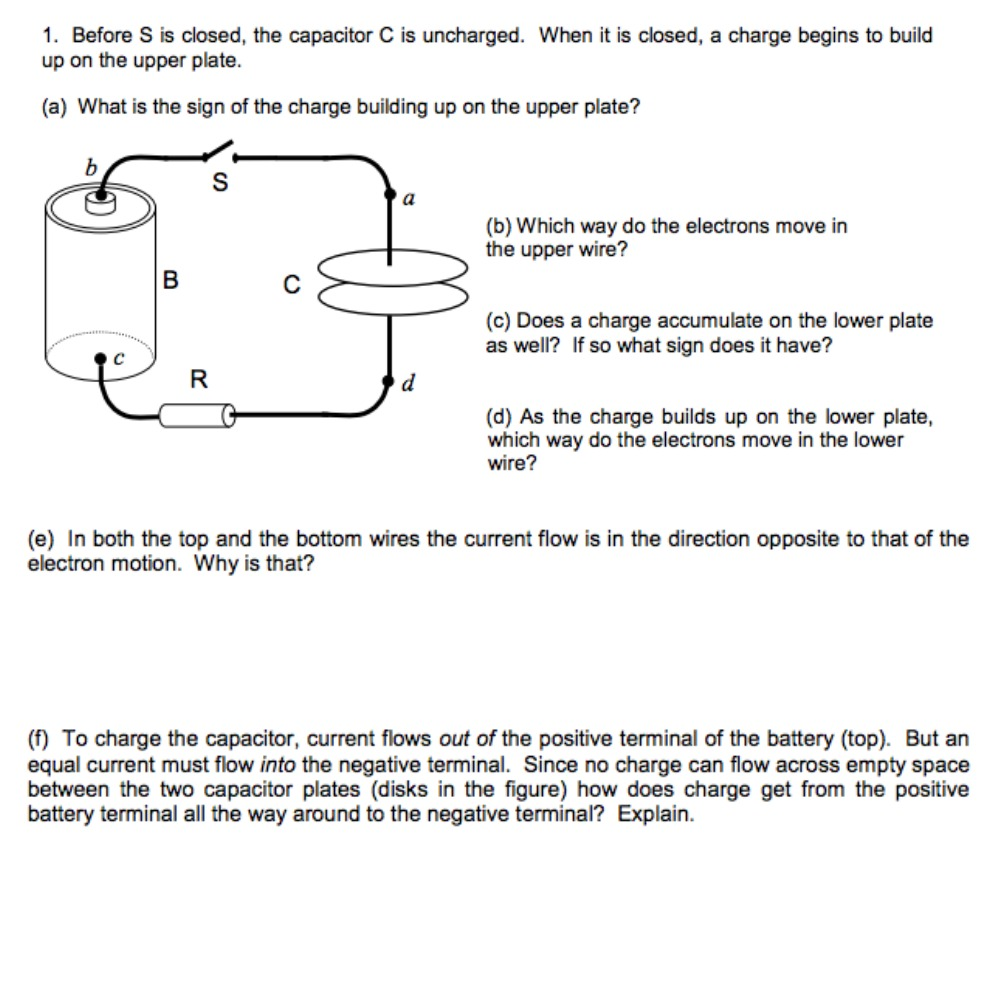 Solved Before S Is Closed The Capacitor C Uncharged Wiring Two Capacitors In Parallel