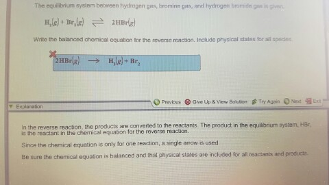 Solved The Equilibrium System Between Hydrogen Gas Bromi