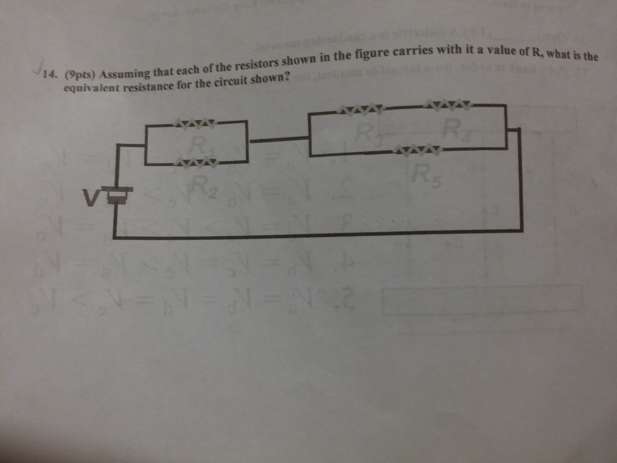 Solved Assuming That Each Of The Resistors Shown In F Find Equivalent Resistance Rt Given Circuit Cheggcom Next Part