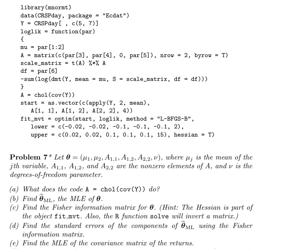 7 13 3 Fitting A Bivariate T-Distribution When You      Chegg com