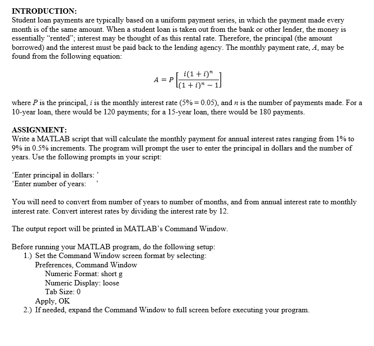 principal loan payments