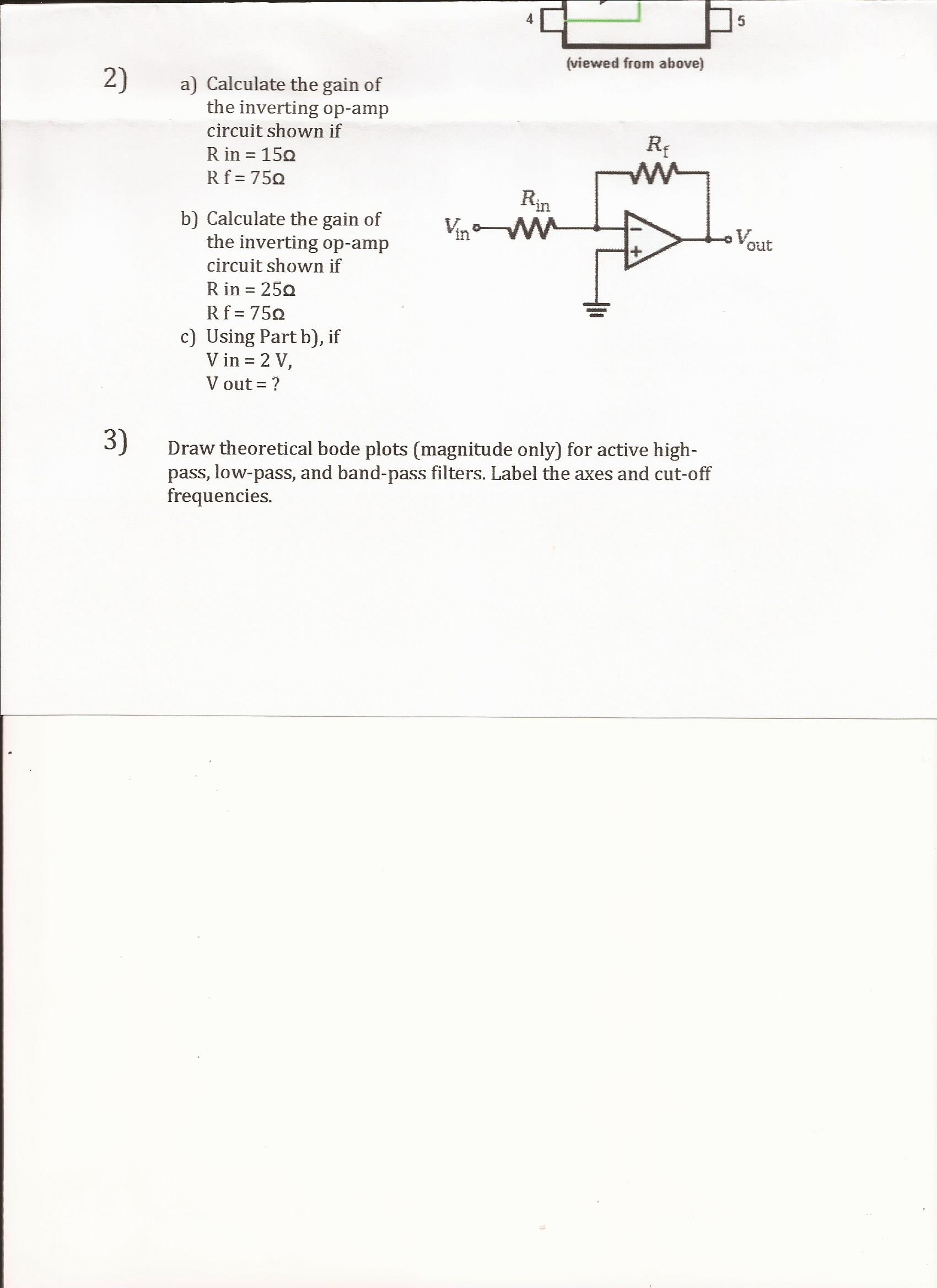 Calculate The Gain Of Inverting Op Amp Circuit