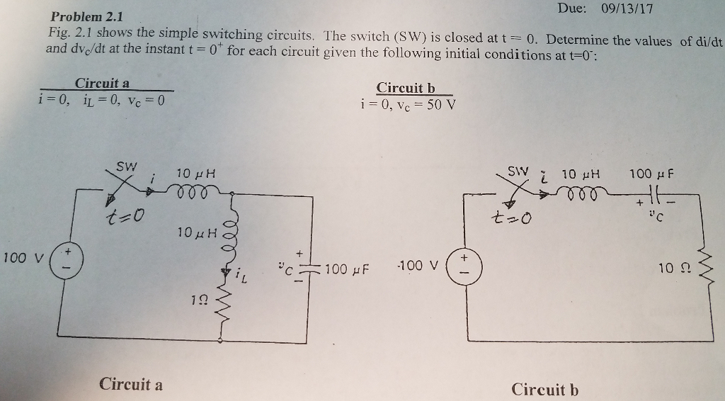 Electrical engineering archive september 11 2017 chegg due 091317 problem 21 fig 21 shows the simple switching fandeluxe Image collections
