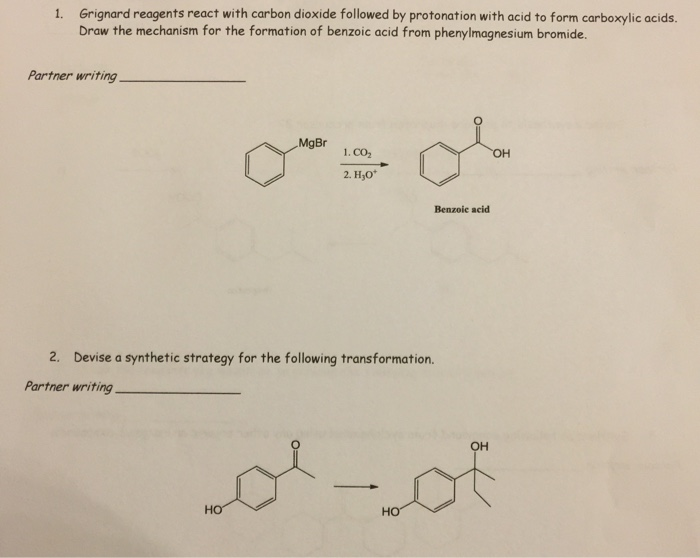 synthesis of grignard reagents Experiment 31a involves the preparation and use of phenylmagnesium bromide to prepare a tertiary alcohol by reacting the grignard reagent with benzophenone (a.