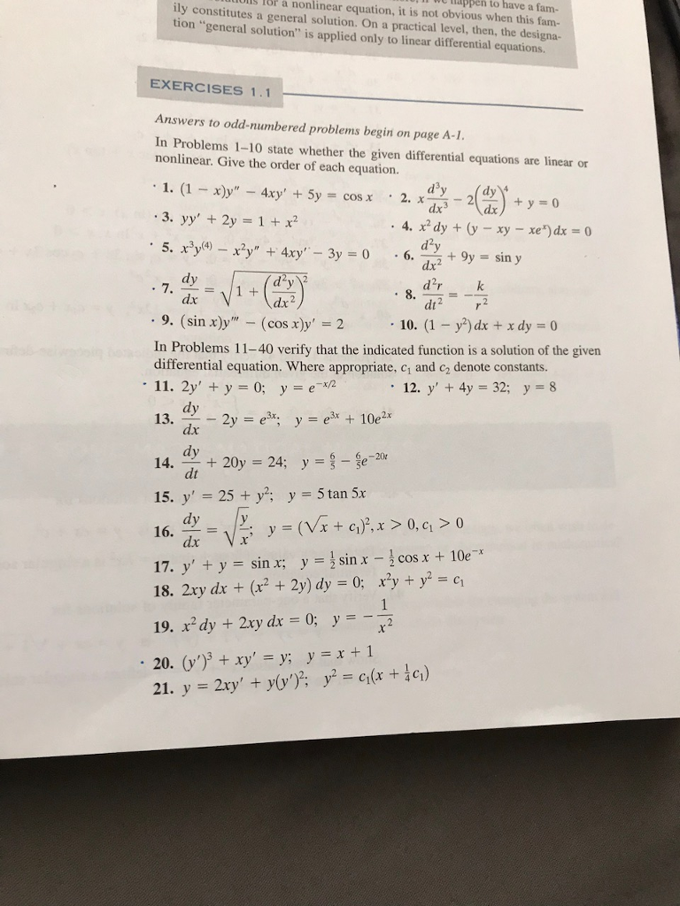 Solved: In Problems 1-10 State Whether The Given Different