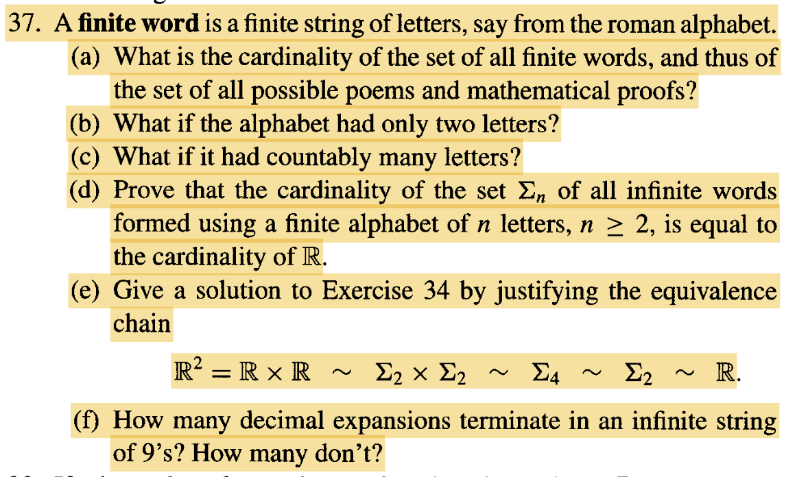 A finite word is a finite string of letters say f