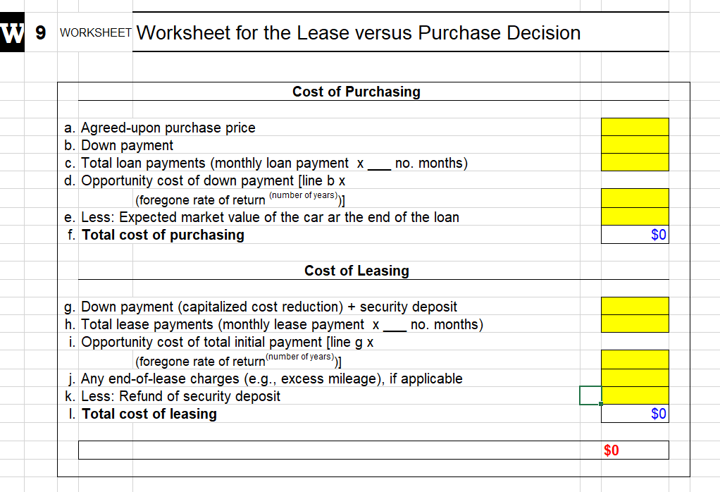 Lease Vs Rent >> Solved Rent V Lease Worksheet Attached Files Lease Vs