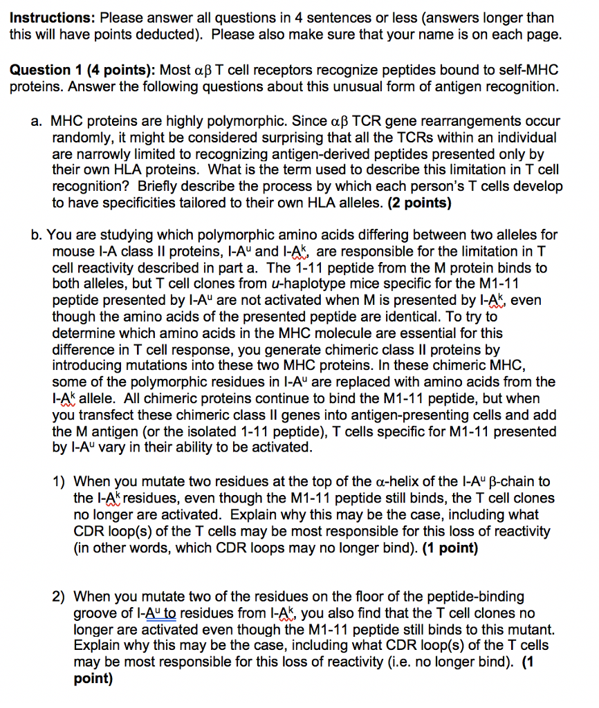 Instructions Please Answer All Questions In 4 Sen Chegg