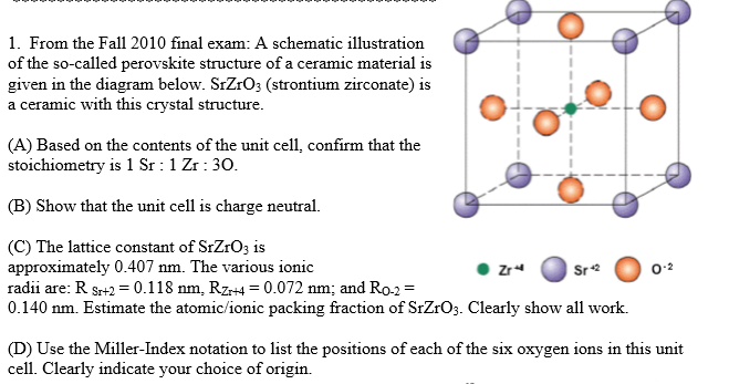 1. From The Fall 2010 Final Exam: A Schematic Illu... | Chegg.com