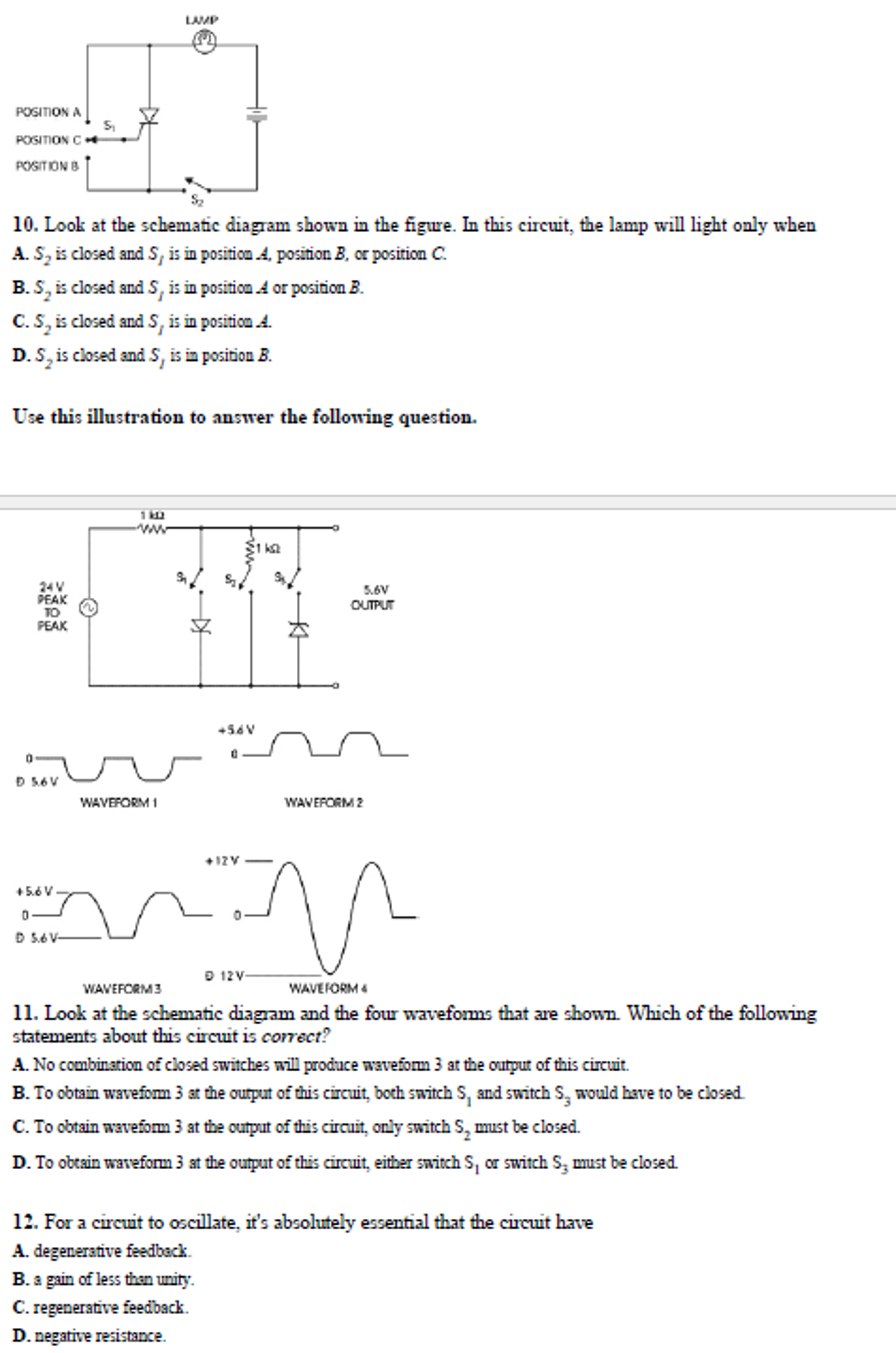 Look At The Schematic Diagram Shown In Figure Negative Feedback