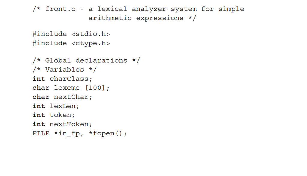 Solved Convert The Lexical Analyzer Which Is Written In