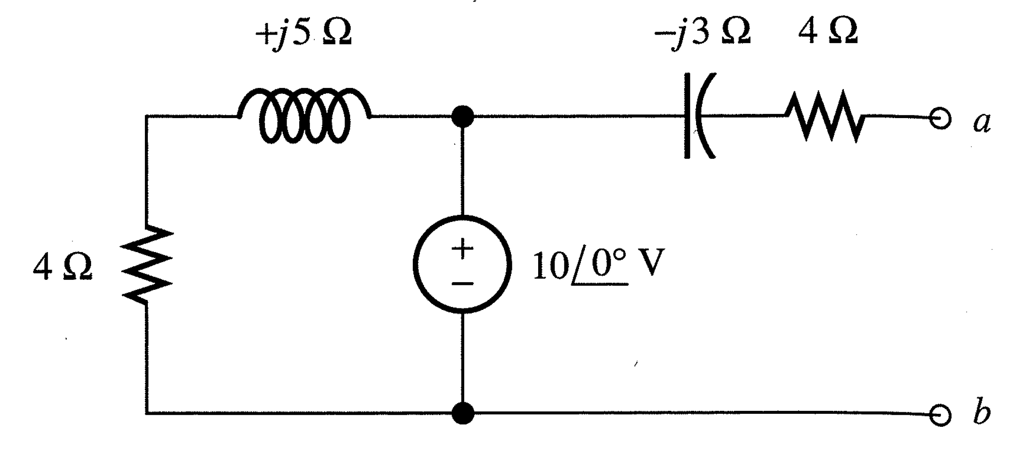 Solved For The Circuit Shown Operating Under Ac Steady St Thevenin Equivalent With Current And Voltage Source Of Part A Load D
