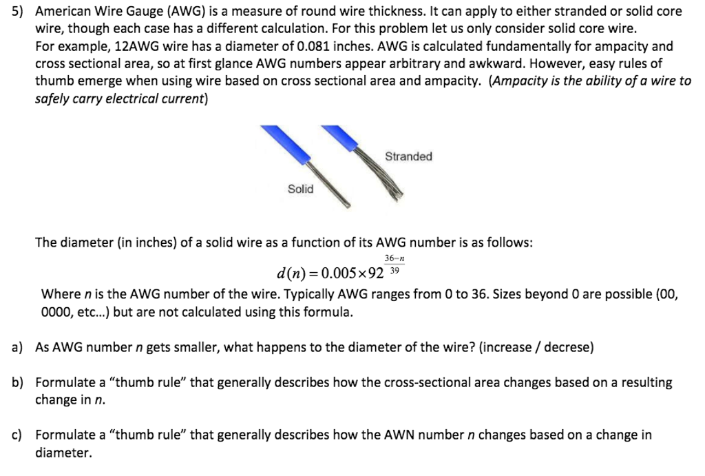 Solved american wire gauge awg is a measure of round wi american wire gauge awg is a measure of round wi keyboard keysfo Gallery