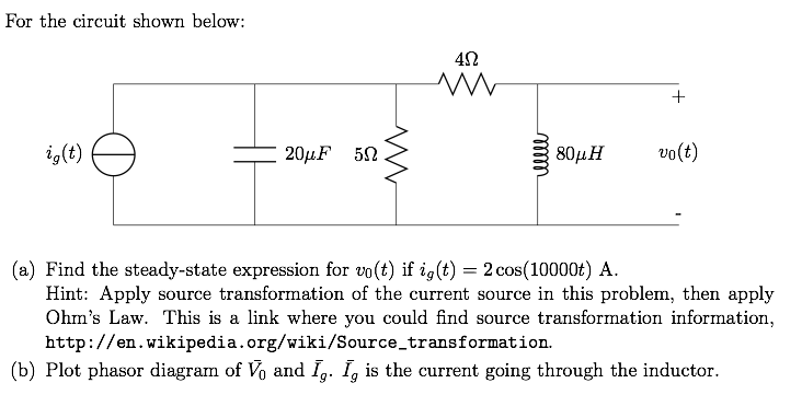 Solved for the circuit shown below find the steady state for the circuit shown below find the steady stat ccuart Image collections