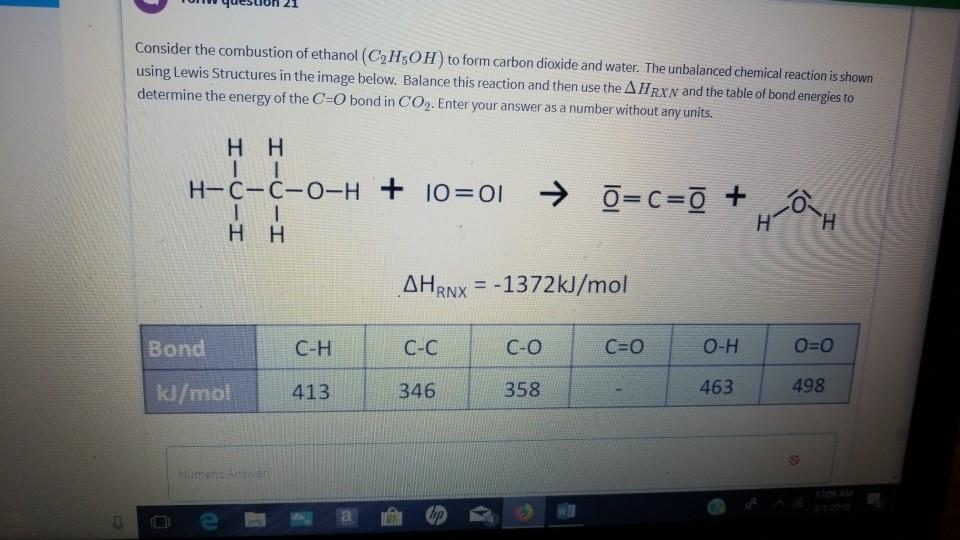 Ethanol Chemical Formula Combustion