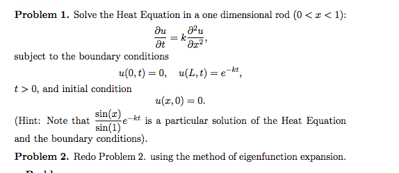 Solved: Solve The Heat Equation In A One Dimensional Rod