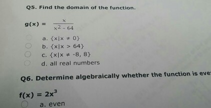 how to find the domain of f