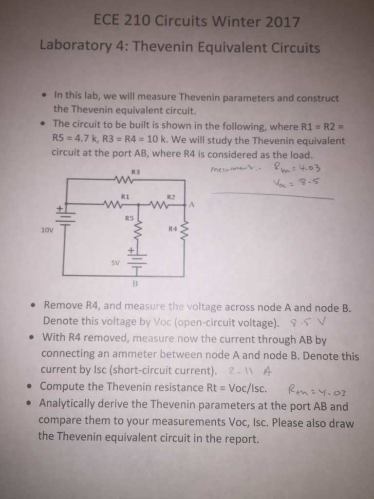 Thevenin Equivalent Circuit Lab Report Guide And Troubleshooting Learn About Theorem Dependent Source Circuits Solved In This We Will Measure Parameters A Rh Chegg Com Resistance Thevinin