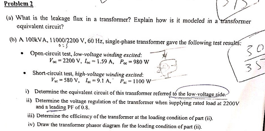Solved: What Is The Leakage Flux In A Transformer? Explain