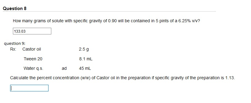 solved how many grams of solute with specific gravity of