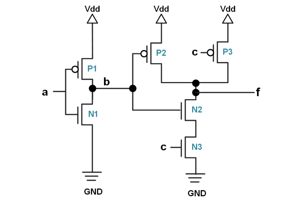 solved the circuit is composed by 3 pmos transistors p 1 rh chegg com