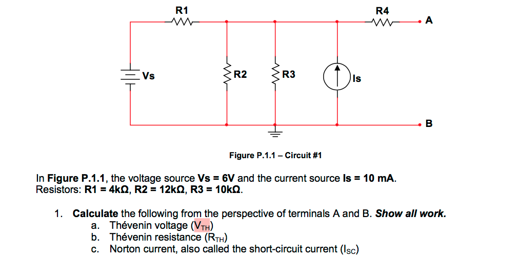 In Figure P 11 The Voltage Source Vs 6V And T