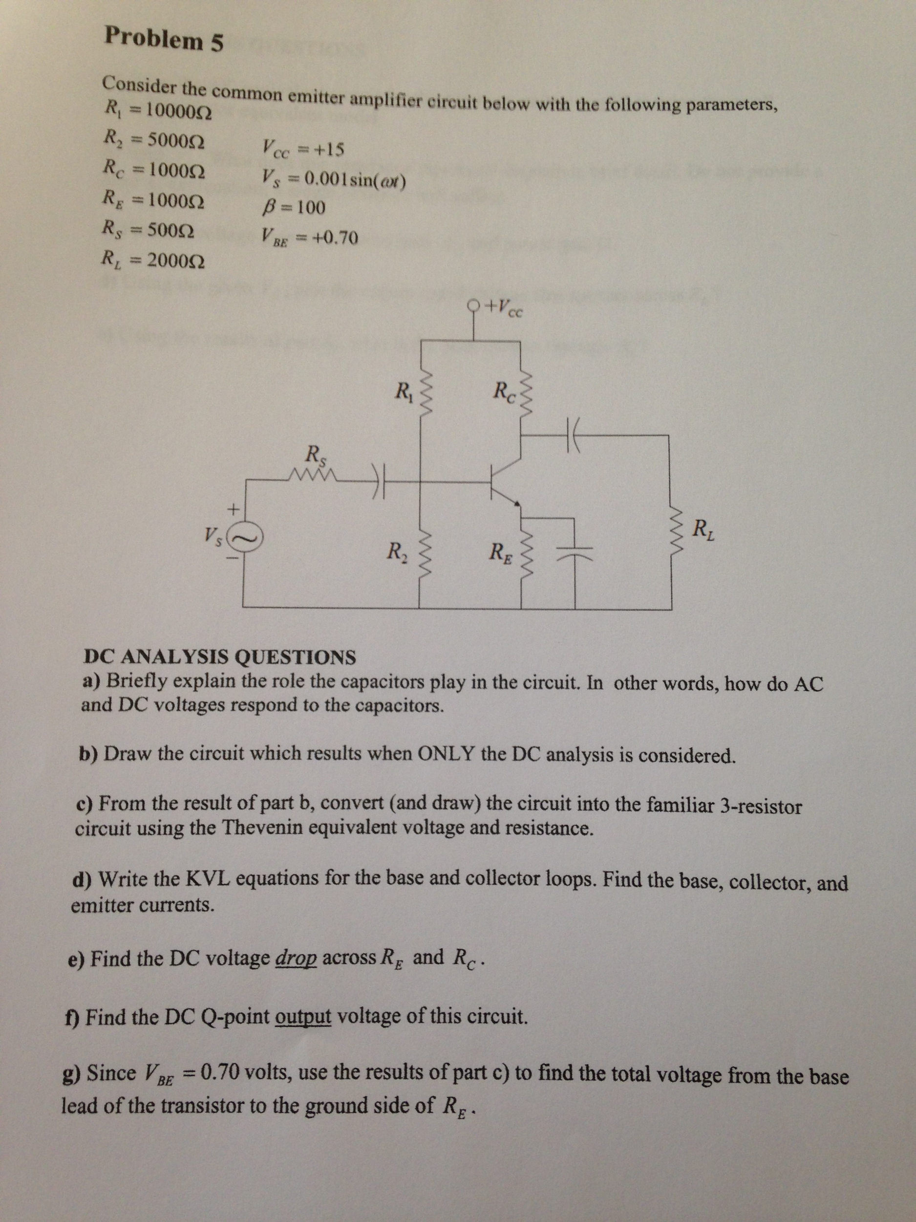 Solved Briefly Explain The Role Capacitors Play In Th Determine Total Resistance Of Circuit Below