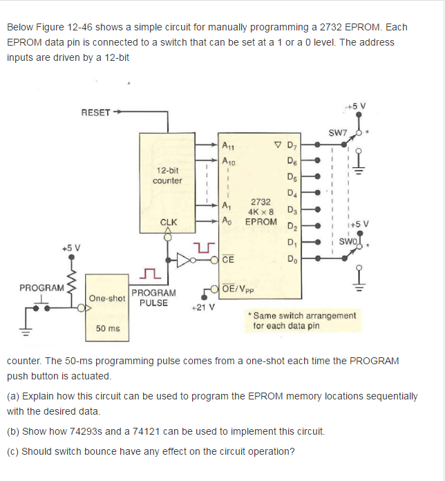 Solved: Below Figure 12-46 Shows A Simple Circuit For Manu ...