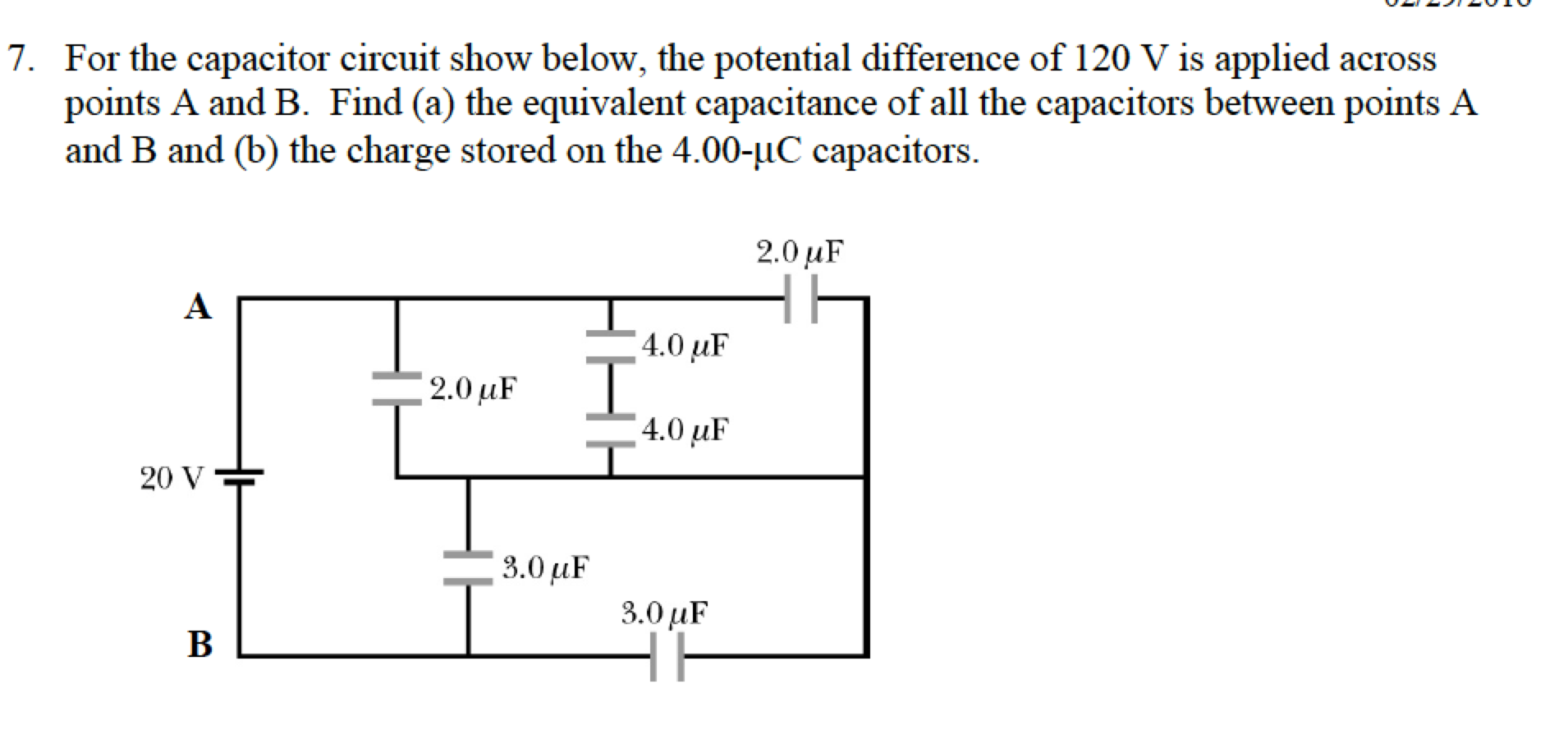 Solved For The Capacitor Circuit Show Below Potentia 120 Volt Wiring Diagram