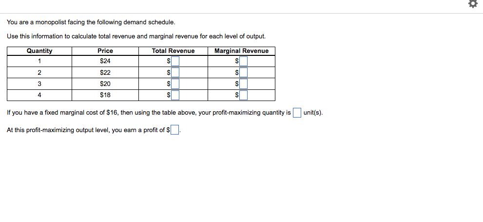 calculate total revenue and marginal revenue
