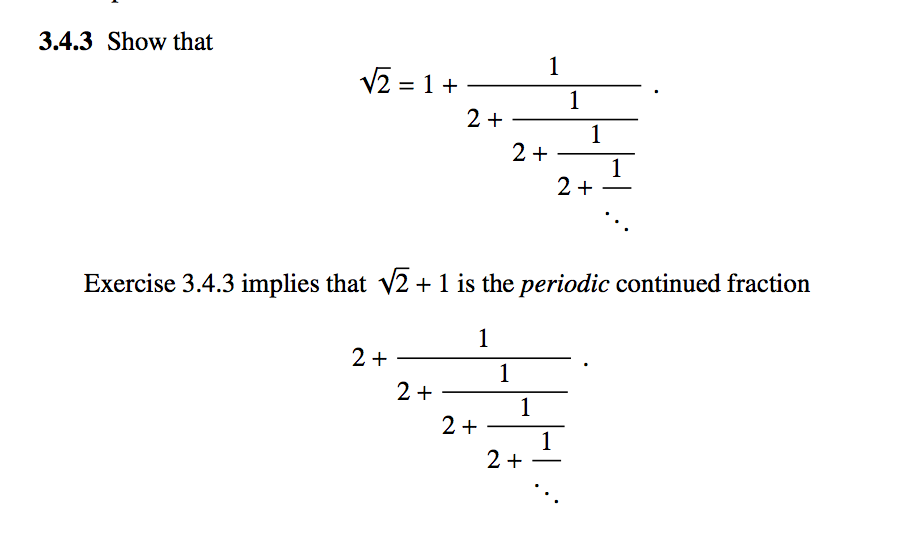 Solved: Show That Exercise 3.4.3 Implies That SQUAREROOT2 ...