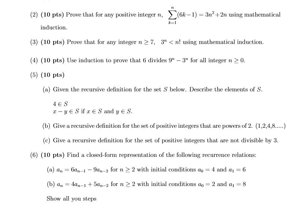 N'nn 2018 N' N'n >> Solved Prove That For Any Positive Integer N N Sigma K 1