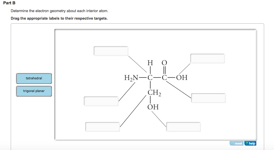 Solved: Determine The Electron Geometry About Each Interio  Chegg.com
