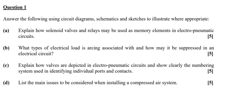 Solved  Question 1 Answer The Following Using Circuit Diag